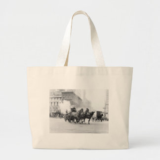 Horse Drawn Fire Engine, early 1900s Tote Bag