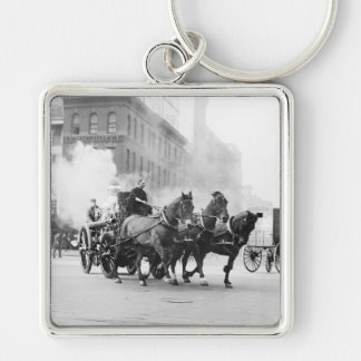 Horse Drawn Fire Engine, early 1900s Keychain