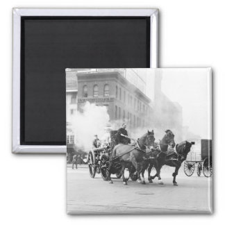 Horse Drawn Fire Engine, early 1900s Magnet