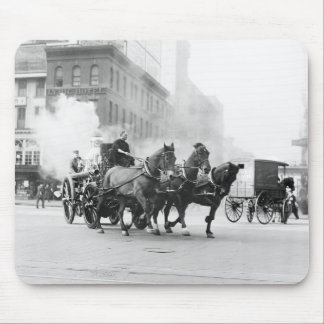 Horse Drawn Fire Engine, early 1900s Mouse Pad