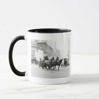 Horse Drawn Fire Engine, early 1900s Mug
