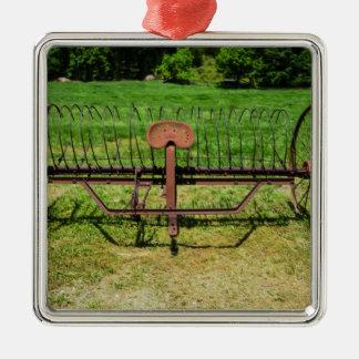 Horse Drawn Hay Rake Metal Ornament