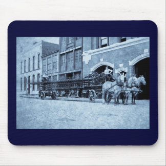 Horse Drawn Hook and Ladder Fire Company Mouse Pad