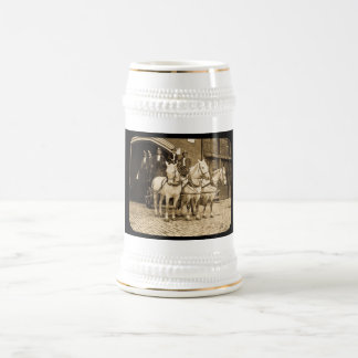 Horse Drawn Hook and Ladder Fire Company - Vintage 18 Oz Beer Stein