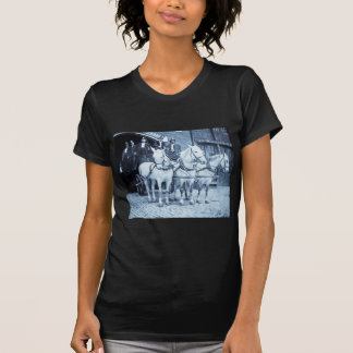 Horse Drawn Hook and Ladder Fire Company - Vintage T Shirt