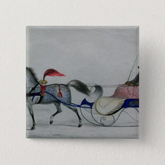 Horse Drawn Sleigh Button