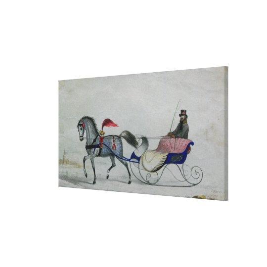 Horse Drawn Sleigh Canvas Print