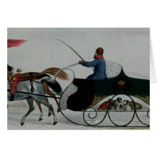 Horse Drawn Sleigh Greeting Card