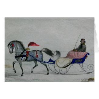 Horse Drawn Sleigh Cards