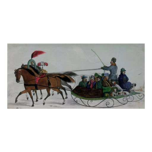 Horse Drawn Sleigh Posters