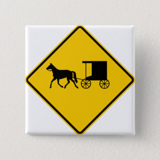 Horse-drawn Vehicle Traffic Highway Sign Button