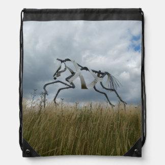 Horse Drawstring Backpack