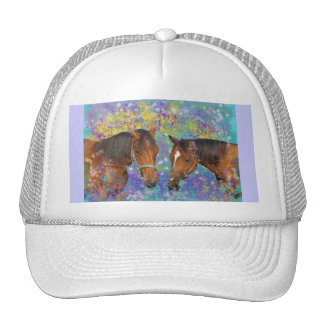 Horse Dream Fantasy Starring Two Dreamy Horses Hat
