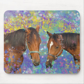 Horse Dream Fantasy Starring Two Dreamy Horses Mouse Pad
