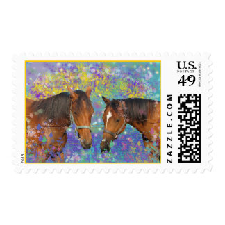 Horse Dream Fantasy Starring Two Dreamy Horses Postage Stamp