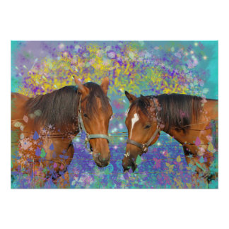 Horse Dream Fantasy Starring Two Dreamy Horses Poster