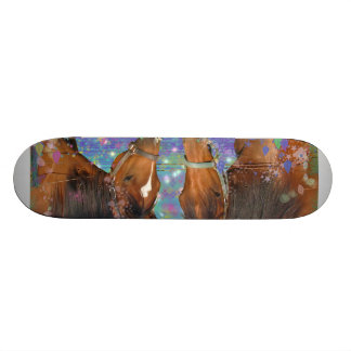 Horse Dream Fantasy Starring Two Dreamy Horses Skate Board Deck