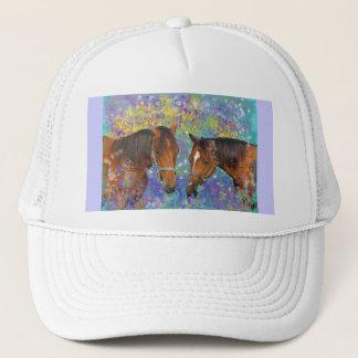Horse Dream Fantasy Starring Two Dreamy Horses Trucker Hat