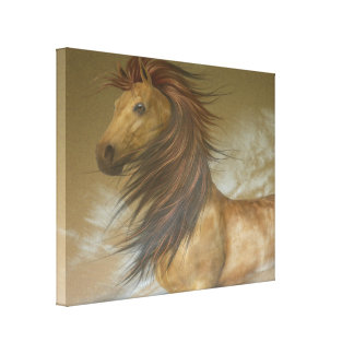 Horse Dreams Stretched Canvas Print