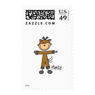 Horse Dress Up T-shirts and Gifts Postage Stamp