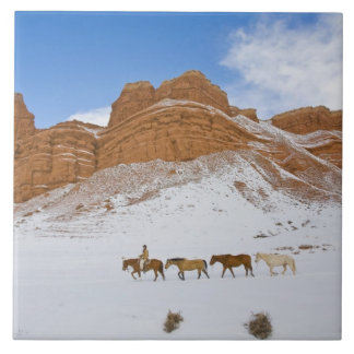 Horse Drive Through the Snow 2 Tile