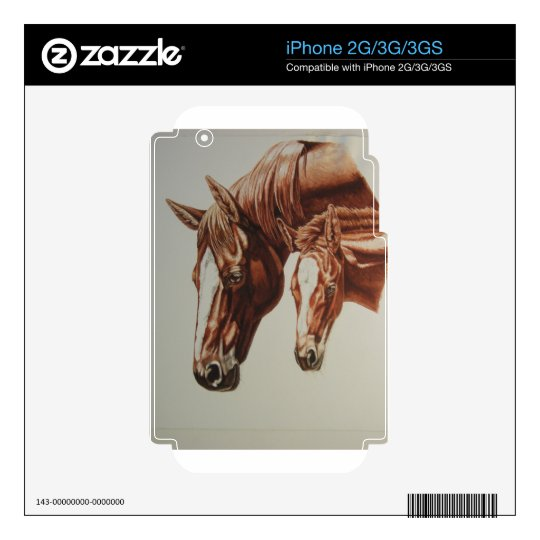 Horse Duo iPhone 3G Decal