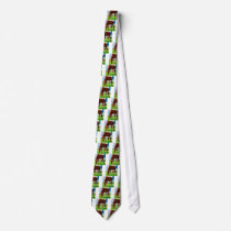 horse eating grass tie