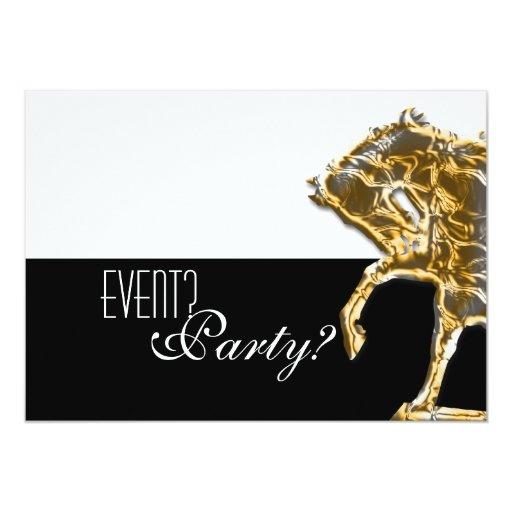Horse elegant party 5x7 paper invitation card