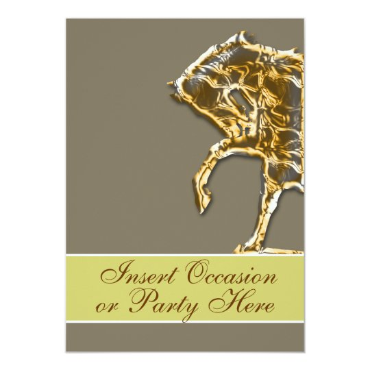 Horse elegant party country wedding card