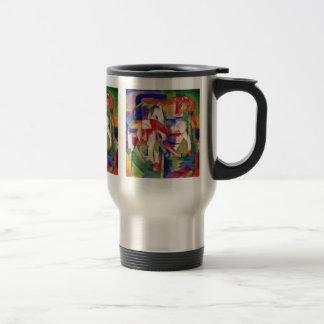 Horse Elephant Cow Winter By Marc Franz Coffee Mugs