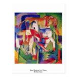 Horse Elephant Cow Winter By Marc Franz Postcard