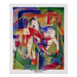Horse Elephant Cow Winter By Marc Franz Poster