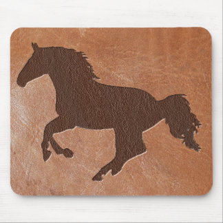Horse Embossed Leather Mouse Pad