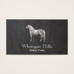 Equestrian business cards templates zazzle horse equestrian equine rustic black business card yadclub Images
