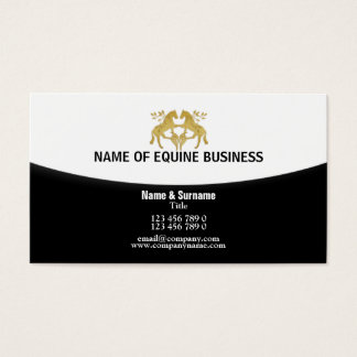 Horse equestrian farrier equine | Personalize Business Card