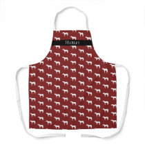 Horse Equestrian Personalized Choose Your Color Apron