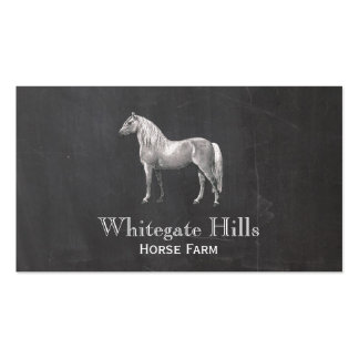 Horse Equestrian Rustic Black Business Card