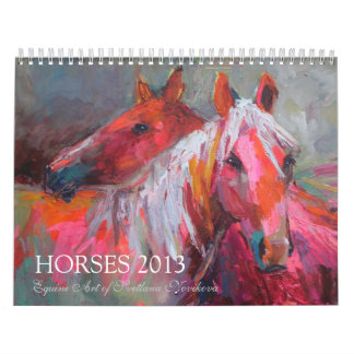 Horse Equine art Wall Calendar Svetlana Novikova