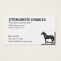 Horse Equine Business Card