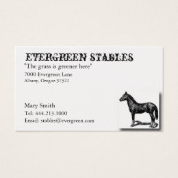 Horse stable business cards templates zazzle horse equine business card yadclub Images