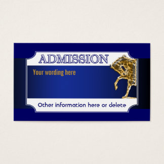 Horse equine party admission ticket