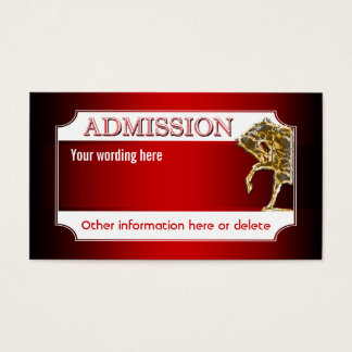 Horse equine party admission ticket (REVISED)
