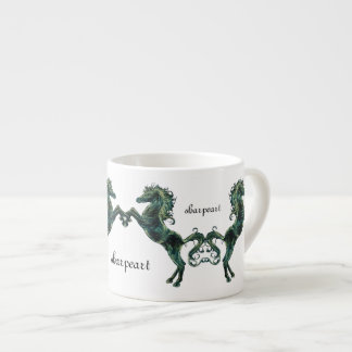 Horse Espresso Mug 6 Oz Ceramic Espresso Cup