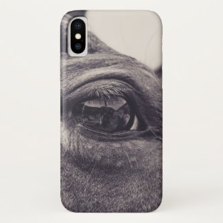 Horse Eye 001 iPhone X Case