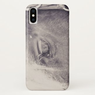Horse Eye 004 iPhone X Case