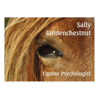 Horse eye business card