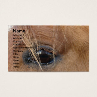 Horse Eye Business Card