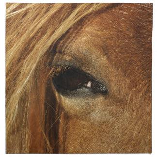 Horse eye photo napkin