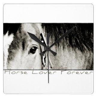 Horse Eye Photograph Square Wallclocks