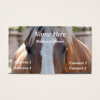 Horse Eyes Business Card